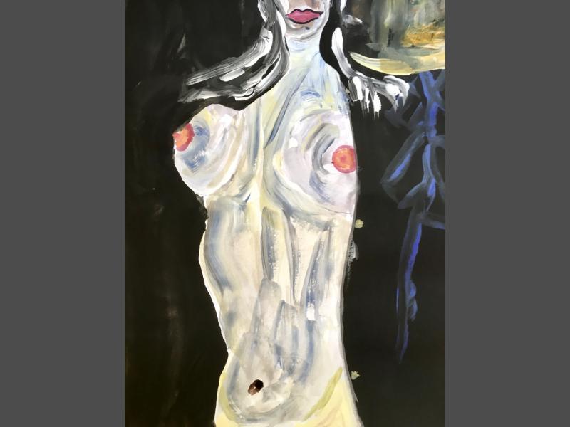 Frau nackter Bauch
