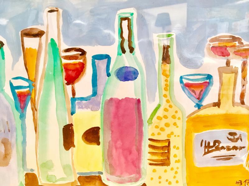 Flaschenreihe