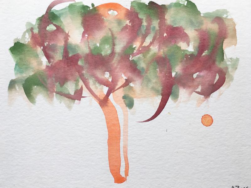 Grün Violett Baum