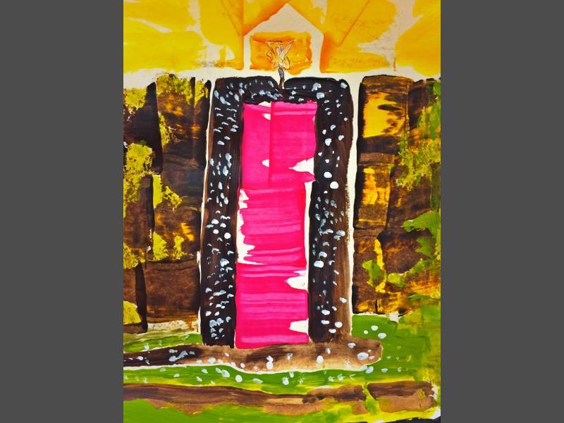 Abstrakt Tür
