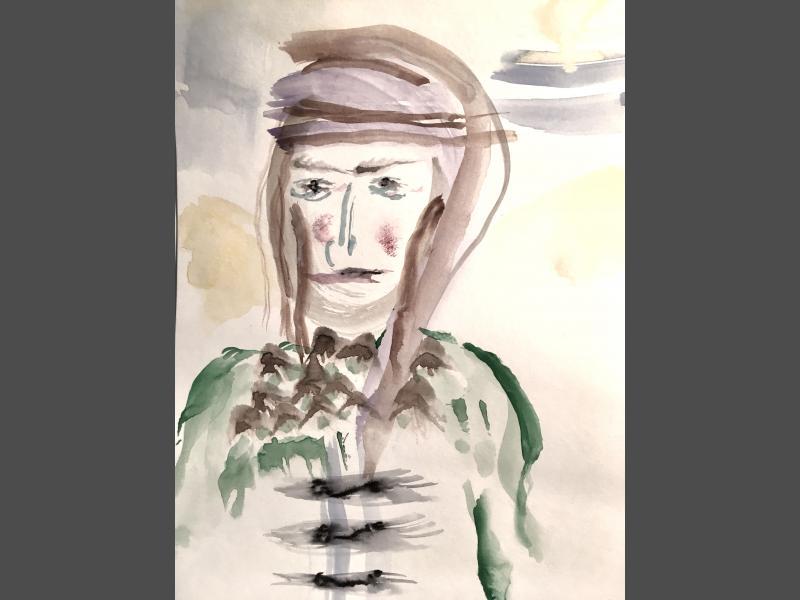 Dame aus der Wüste