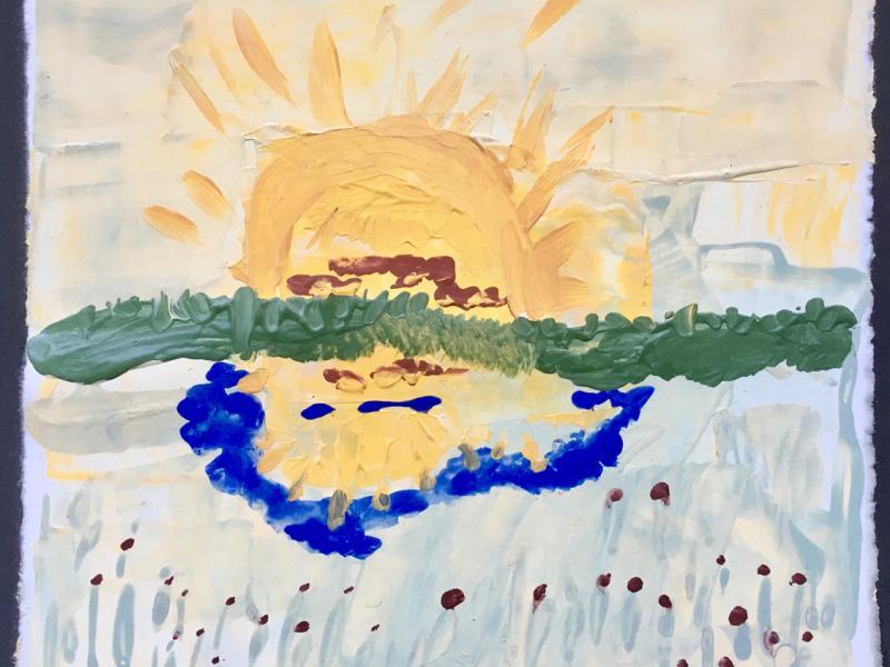 Sonne im Weiher