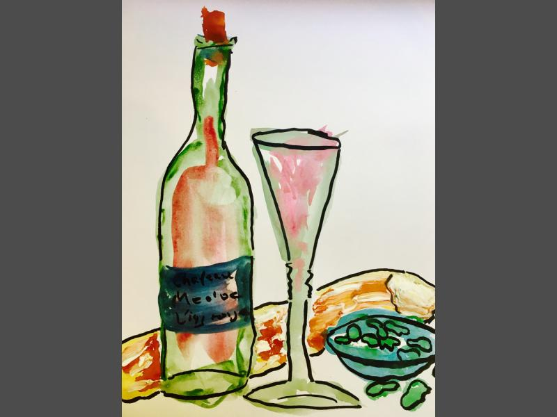 Flasche  & Glas