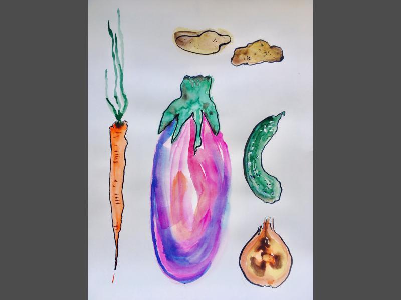 Gemüse von oben