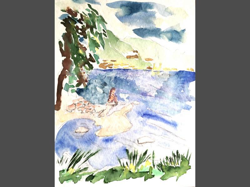 Tegernsee mit Insel
