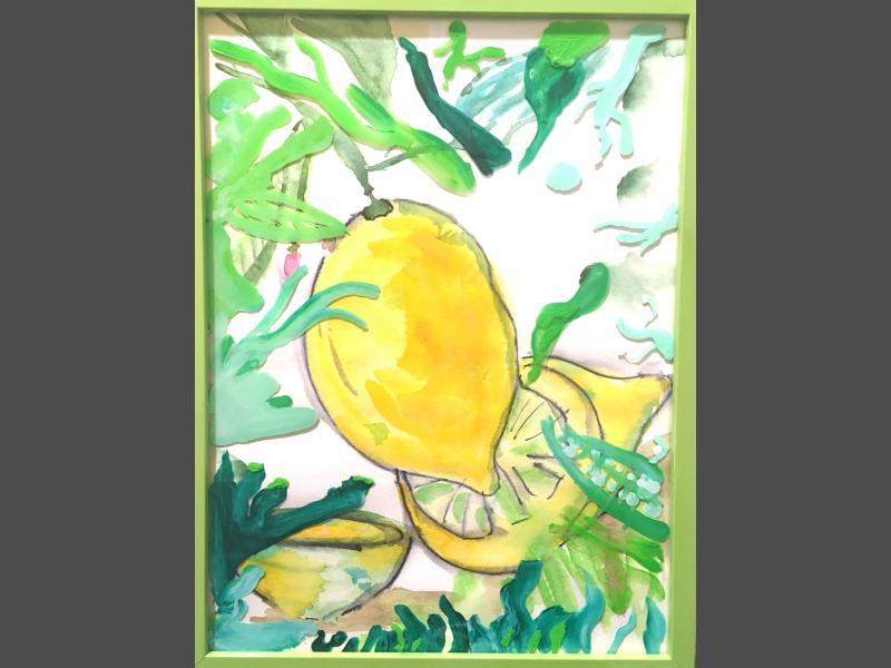 Zitrone im Bilderrahmen
